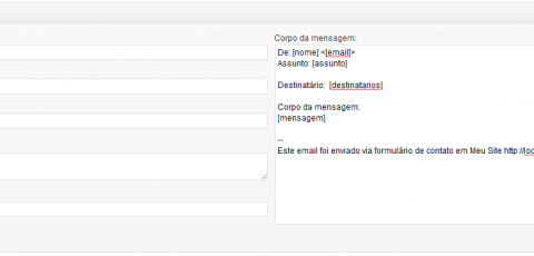 Contact Form 7 - Configurando destinatários