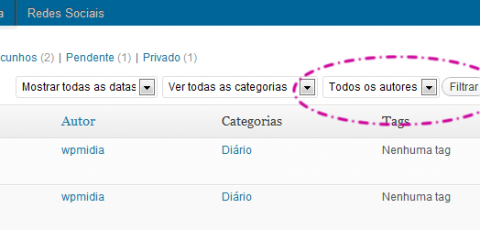WordPress - Filtro por autor