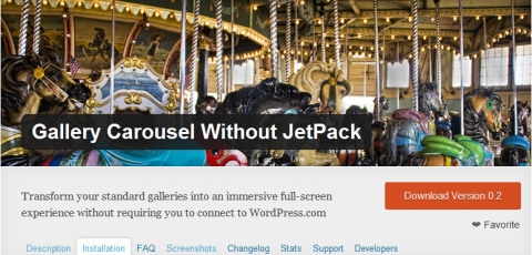 WordPress Plugin - Gallery Carousel Without JetPack