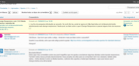 WordPress Comentários - Self Pingbacks